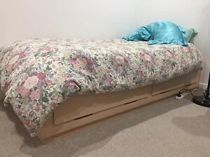 Single bed with 2 draw storage + mattress Lutwyche Brisbane North East Preview
