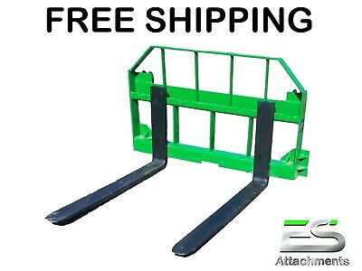 Es 36 John Deere Pallet Forks Quick Attach Powder Coated Green Free Shipping