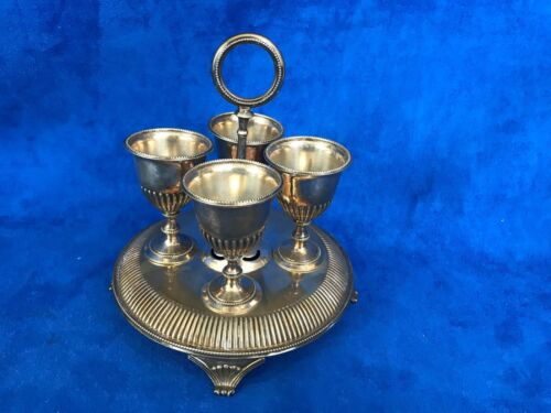 Martin Hall & Co Silver Plate Egg Holder