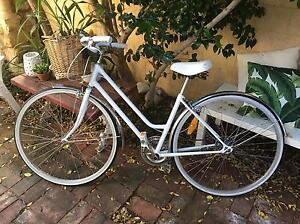 Ladies Bicycle vintage retro style step through white with basket Highgate Perth City Area Preview