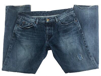 G-STAR RAW 3301 Edge Straight Denim Dark Wash Jeans Men's Size 38x34
