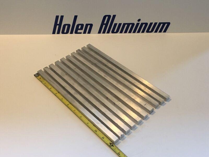 "1/2"" X 1/2"" X 12"" Long Square Aluminum Bar 6061-T6 (10 Pieces)"