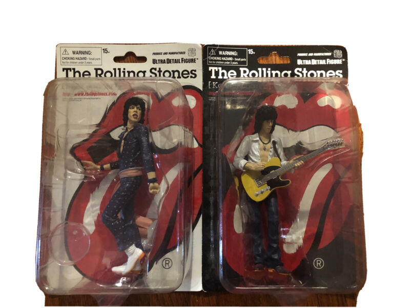 The Rolling Stones Mick Jagger & Keith Richards Ultra Detailed Figures MedComToy
