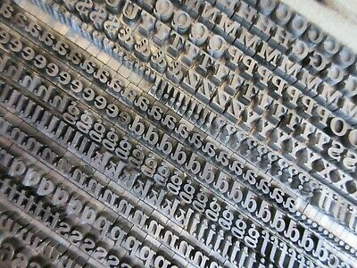 Letterpress Lead Type 18 Pt. Fortune Bold Italic - Bauer Type Foundry  H8