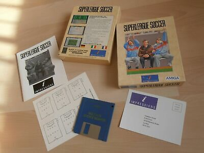 SuperLeague Soccer Amiga game BOX, used for sale  Shipping to South Africa