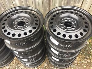 Car and truck steel wheels. See pictures for sizes