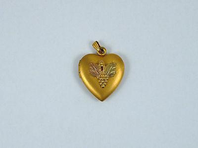 Black Hills Gold Heart 14k Gold Filled Locket Pendant (Black Hills Gold Heart Locket)