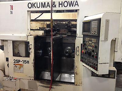 Okuma Howa 2sp-15h Dual Spindle Cnc Lathe Fanuc Twin Gantry Loading System