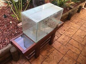2ft fish reptile turtle lizard axolotl tank with lids  and nice stand Woodcroft Morphett Vale Area Preview