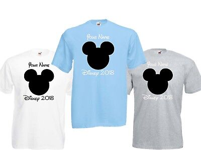 Disney T-shirts (Personalised Micky Mouse Disney World  2018/2019 Vacation T shirts, Florida)
