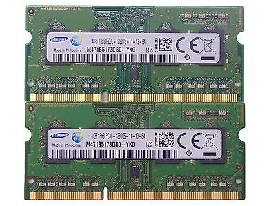 8GB (2x4GB) DDR3 PC3-12800S 1600 MHz Laptop SODIMM RAM Memory Upgrade 204-Pin