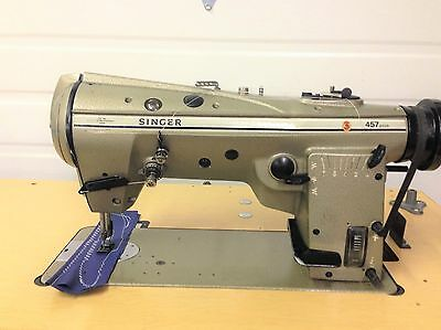 Singer 457u105 High Speed Zig Zag Wreverse 110v Industrial Sewing Machine