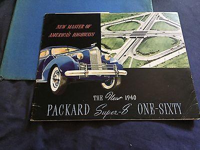 1940 Packard Super 8 160 Prestige Color Brochure Catalog Prospekt for sale  Santee