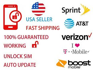 PREMIUM UNLOCK CHIP IPHONE 5S SE 6 6S 7 8 P X TURBO SIM CARD  SPRINT ATT TMOBILE