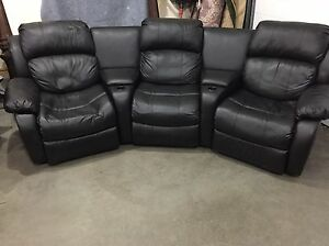 5 piece leather sectional