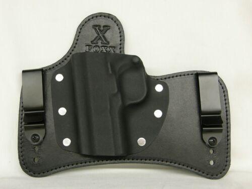 FoxX Holsters Leather & Kydex IWB SOB Hybrid Holster Sig P229 w/Rail Black Right