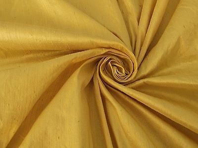 CHAMPAGNE GOLD 100% DUPIONI SILK FABRIC YARDAGE By the Yard Quilt Sew Drapery