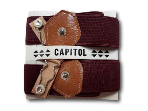 Garters for Men Vintage Capitol Brand Maroon