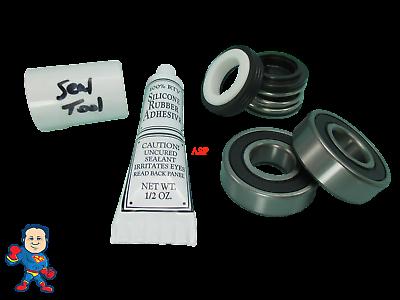 Seal & 2 Bearing Pump Parts Kit Fits Most Vico Sta-Rite Spa