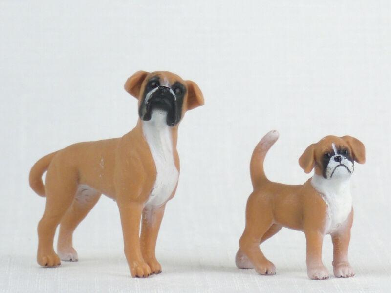 SCHLEICH Dog Figures BOXER Female & Puppy RETIRED