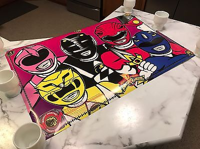 Awesome Vintage Mighty Morphin Power Rangers Poster w/ Mask Cut Outs NOS!!! - Power Rangers Awesome