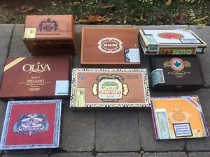 Empty cigar boxes - $20 for the lot of 8