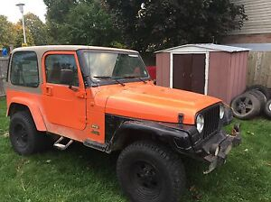 2001 jeep TJ with blown motor