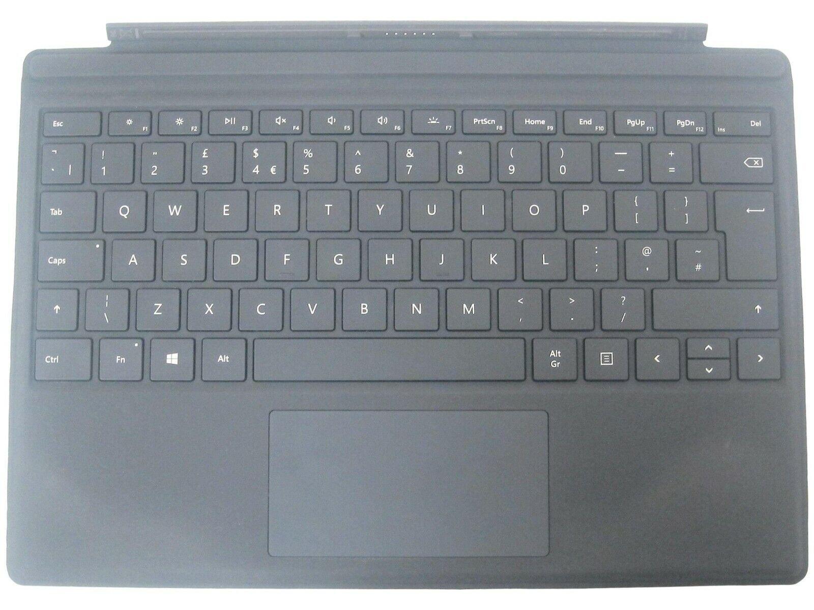 Microsoft surface pro 4 type couvercle pavé tactile gb qwerty clavier noir 1725