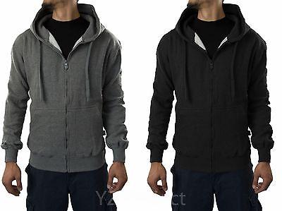 Pro 5 Herren Jacke mit Reißverschluss Schwarz Dunkelgrau Alle Größen Big&tall Alle Schwarzen Fleece
