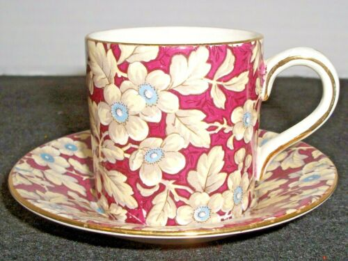 LORD NELSON WARE ENGLAND DEMITASSE CHINTZ CUP & SAUCER ~ ROYAL BROCADE