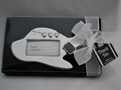 2 pcs. Kate Aspen Luggage ID Hang Tag Chrome Airplane Premium Gift special event