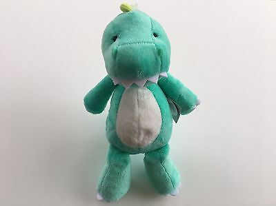 Carter's Baby Blue Green Dinosaur Dino Dragon Plush Stuffed Animal Lovey Toy NEW