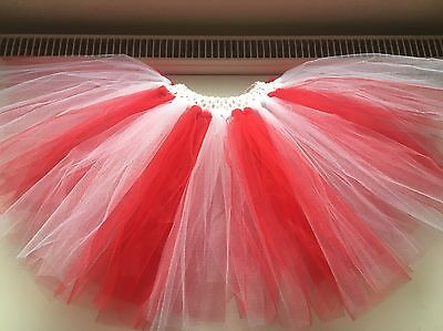 Girls Football England Red And White Tutu Dance Age 1 - 10 Years - Football Costume For Girls