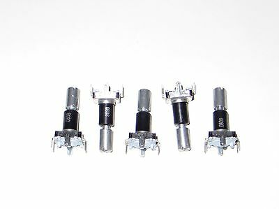 5 X Rotary Encoder W Momentary On Switch - 30 Detents