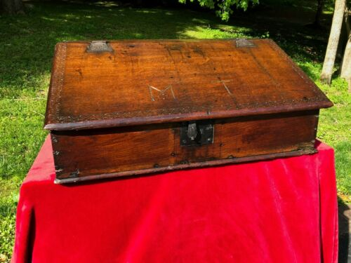 Antique 17th Century Charles II Oak Desk Box -- Shipping Available