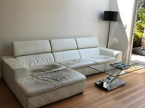 White Leather 4 Seater Gainsville Couch for FREE Manly Manly Area Preview