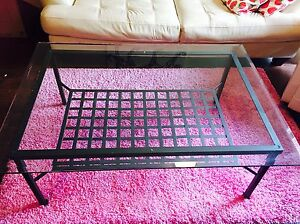 IKEA fortified glass coffee table in great condition