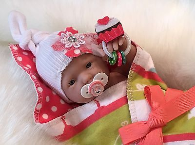 """OOAK 9-10"""" Girl Doll CLOTHES~Pacifier~Toy~FOR Micro Preemie Reborn~Berenguer"""