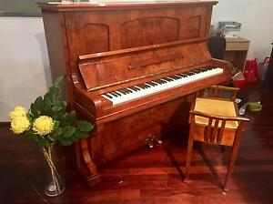 Beautiful 1920's Restored German Piano & stool - 12 Yr Warranty Norwood Norwood Area Preview