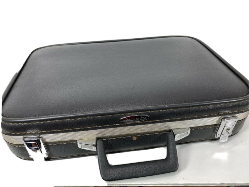 Vintage FEATHERLITE Hard Side Briefcase - Attaché Case - Dark Gray - Very Nice