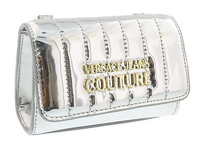 Versace Jeans Couture Silver  Glossy Metallic Micro Key Bag