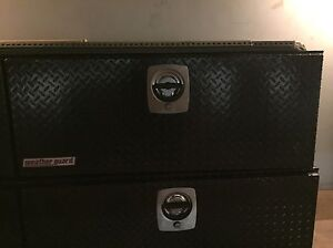 Lockable Commercial job boxes and rack
