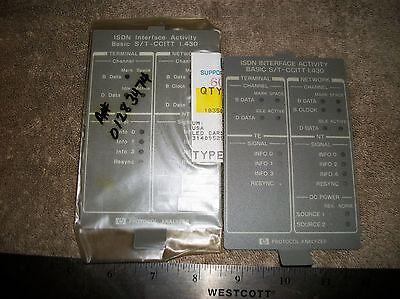 HP-HEWLETT PACKARD  18356-84307 ELECTRONIC EQUIPMENT FACE PLATES A Hewlett Packard Face