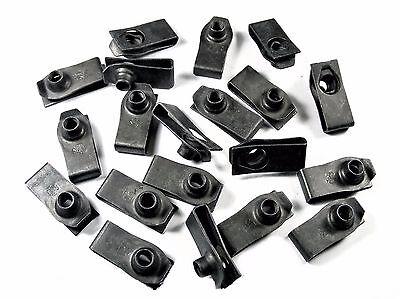Mopar U-nut Clips- M6-1.0 Thread- 19.5mm Center To Edge- 20 clips- #194