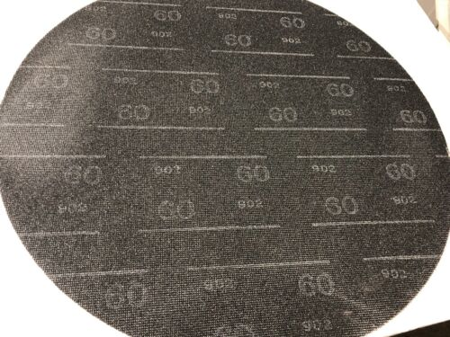 "Boardwalk 50206010 Sanding Screens, 20"" Diameter, 60 Grit, Black (Case of 10)"