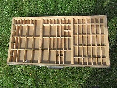 Antique Letterpress Hamilton California Job Case - Type Case - Shadow Box D4