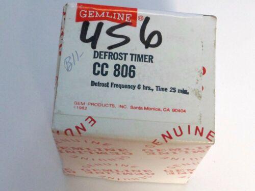 GEMLINE CC-806 UNIVERSAL DEFROST TIMER - NOS