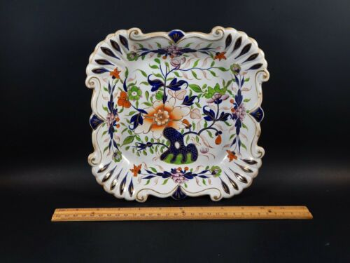 Antique English Staffordshire Masons Ironstone or Spode Imari Serving Dish C1825