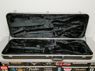 80's Fender USA Black HARDSHELL CASE for Bullet American Electric Guitar