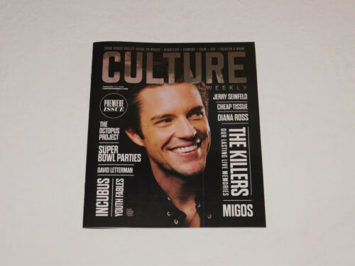 Culture Magazine Issue #1 THE KILLERS Brandon Flowers RARE NEW!